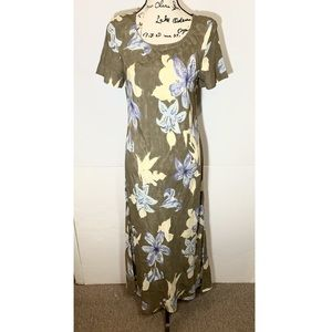 Carole Little Cap Sleeve Maxi Dress Floral